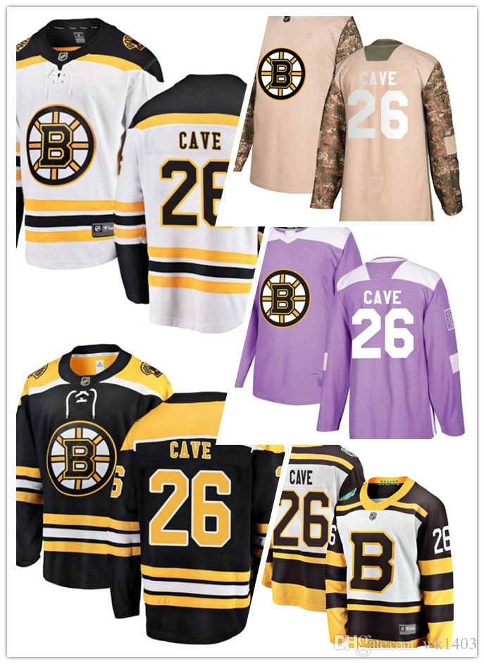 Boston Bruins Jerseys  26 Colby Cave Jersey Ice Hockey Men Women Yellow  White Black Drift Authentic Winter Classic Stiched CCM Jersey S 3XL UK 2019  From ... 0164a3833