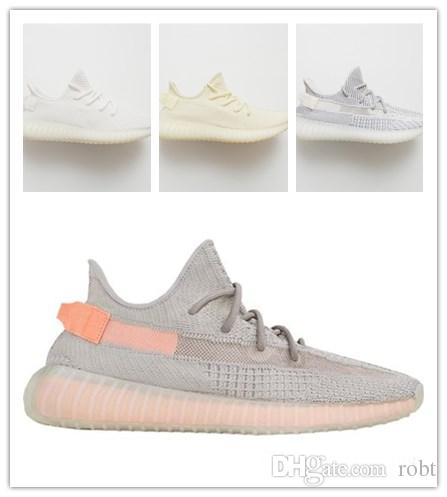 Adidas Yeezy Boost Sply 350 2019 NUEVO Kanye West chaussures Form Clay Static Hombre Zapatillas de correr Mantequilla Bred Sesame Mujeres Zapatillas
