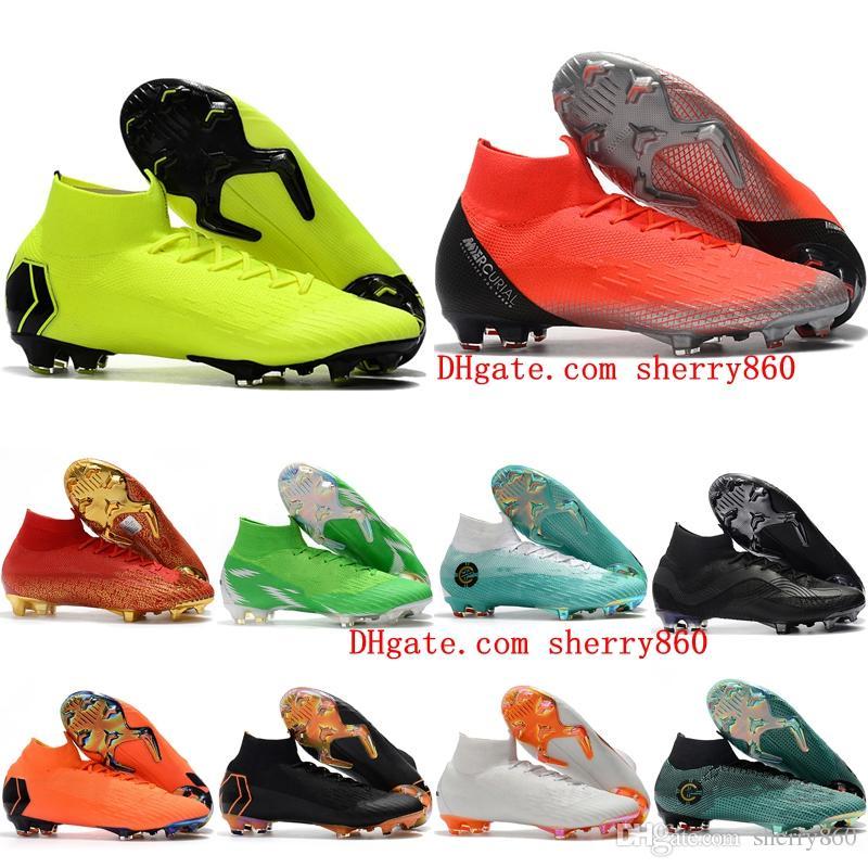 18023e5df 2019 2018 Kids Soccer Shoes Mens Boys Football Boots Soccer Cleats Mercurial  Superfly VI 360 Elite Neymar Ronaldo FG CR7 Soccer Cleats Women From  Sherry860