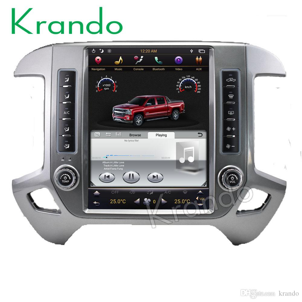 Krando Android 7 1 12 1 Tesla style Vertical car dvd radio For Chevrolet  Silverado and GMC Sierra 2014-2018 navigation player