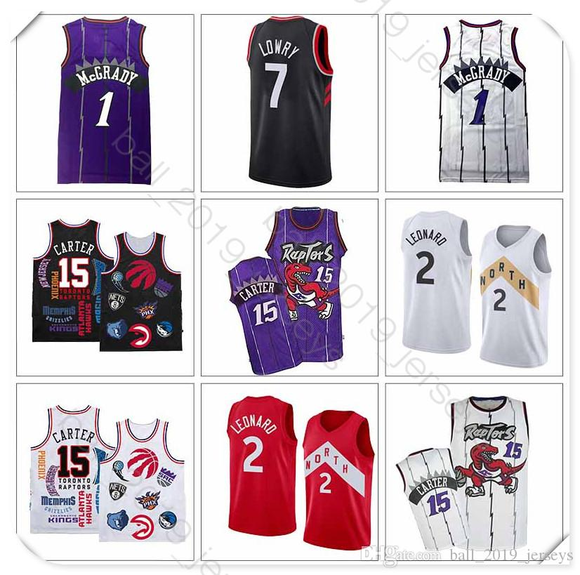 f6bc9a0ef19c 2019 Raptors Jersey 2 Leonard Jersey 15 Carter 7 Lowry 1 McGrady Retro Hot  Sale Basketball Jerseys From Ball 2019 jerseys