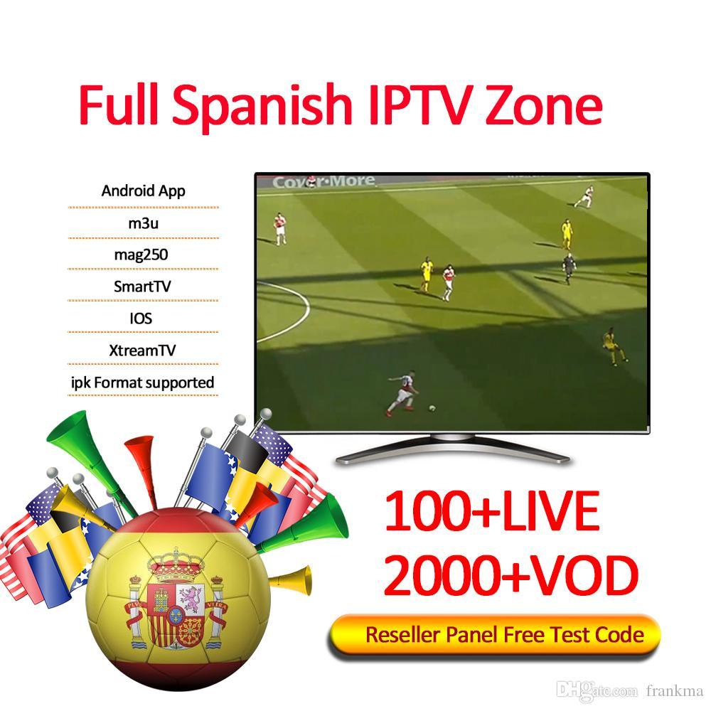 Spain tv channels iptv subscription for android abonnement iptv 1/3/6/12  months abbonamento iptv Support M3U Mag Box Smart TV