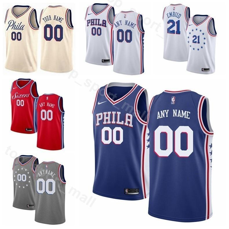 23e35b837780 2019 Printed Men Youth Women Philadelphia Basketball 76ers 33 Tobias Harris  Jersey 51 Boban Marjanovic 1 Mike Scott 12 TJ McConnell Blue White From ...