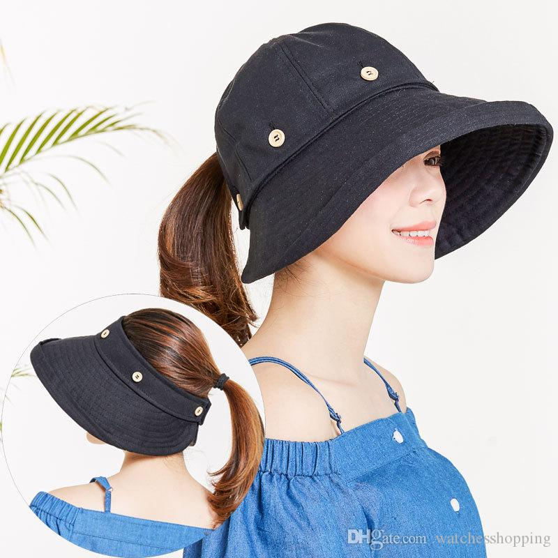 3680c154584a9 Women Reversible Sun Hat UV Protection Wide Brim Floppy Summer Visor Beanie  Hats Winter Hats From Watchesshopping