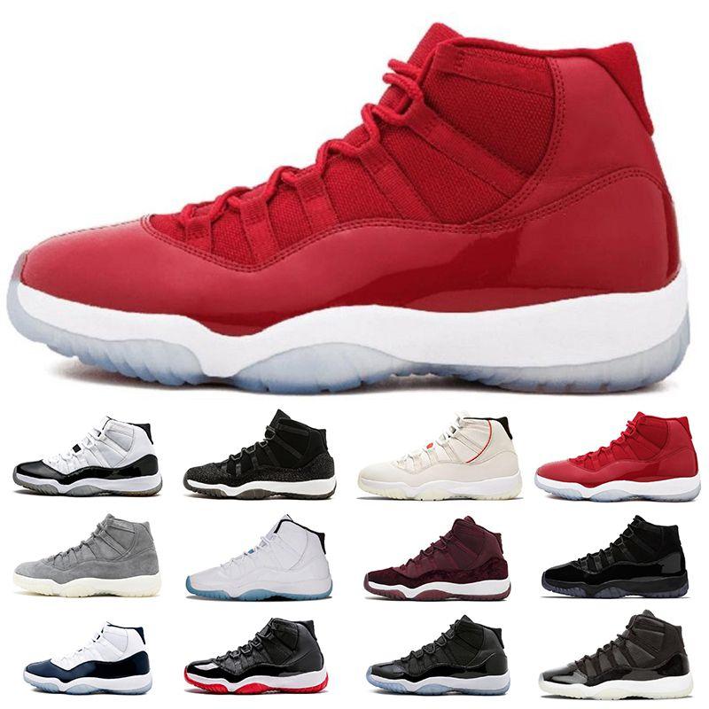 finest selection c6c7f bdf7b Acheter 2019 Nike Air Jordan 11 Retro 11 Hommes Chaussures De Basketball  2017 Concord 11s Sport Sneaker Faible Métallique Or Marine Bleu Blanc Blanc  Rouge 8 ...