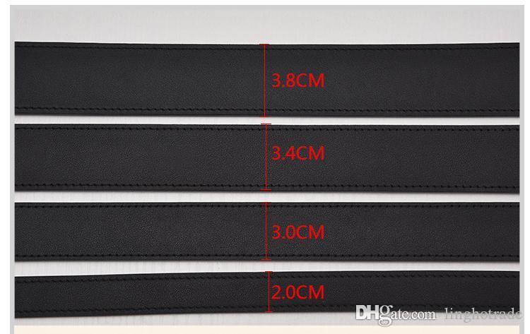 أزياء الرجال حزام مصمم أحزمة جلد مصمم للنساء حزام أحزمة الفاخرة 2.0CM، 3.0CM، 3.4CM، 3.8CM عرض مشبك كبير مع صندوق