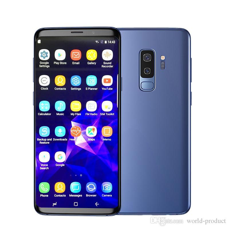 6 2inch Full Screen goophone S9 plus s9 phone MTK6580 1G RAM 16G ROM  Fingerprint show 4G LTE android 7 0 smartphone