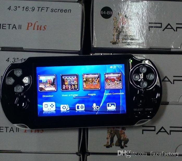 PAP Gameta II Consoles de jeu portables Lecteurs de jeux vidéo rétro 64 bits portables Construit en 16 Go Support TV Out MP3 MP4 MP5 Caméra