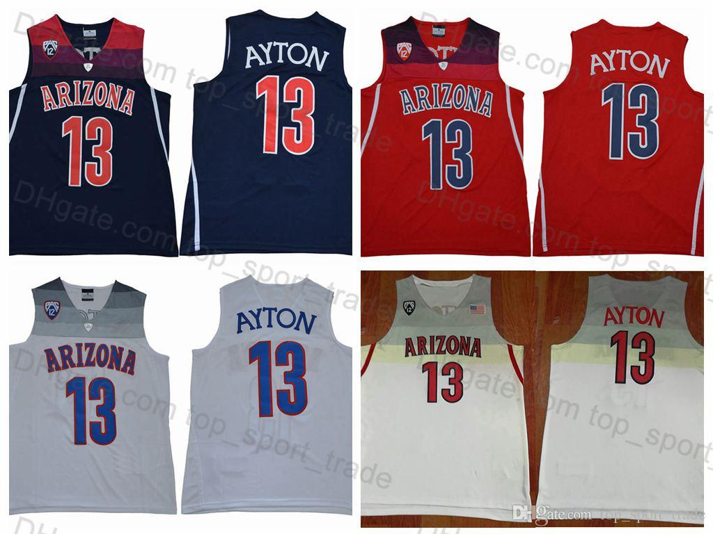 53f8ebd5995 Arizona Wildcats #13 DeAndre Ayton Jerseys Stitched Blue Red White Men's  DeAndre Ayton College Basketball Jerseys Drop Shipping