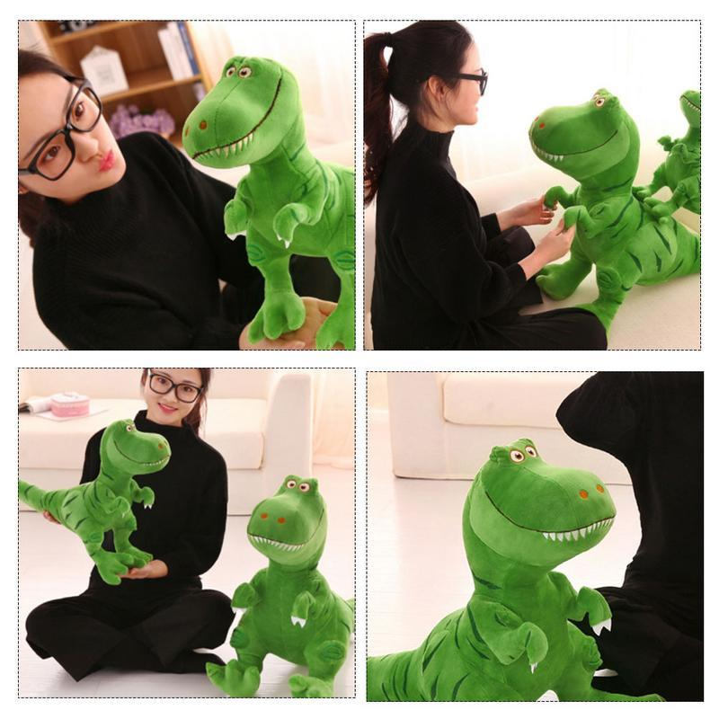 2019 Large Dinosaur Plush Toy Bed Time Stuffed Animal Toys Cute Soft