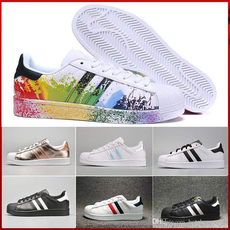 the best attitude 12dea 9c006 Compre Adidas Superstar Stan Smith 2019 Zapatos Stan Fashion Smith Marca De  Calidad Superior Para Hombre Para Mujer Nuevos Zapatos Casuales Zapatillas  De ...
