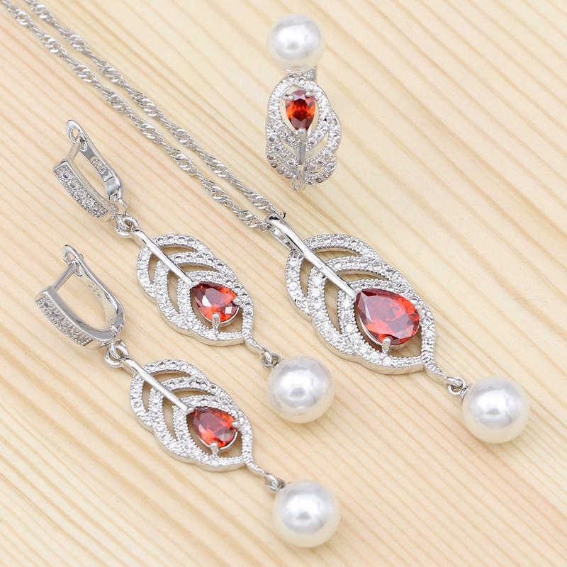 97524c4a1 Cheap Orange Bridal Jewelry Sets Wholesale Couples Jewelry Sets Necklace