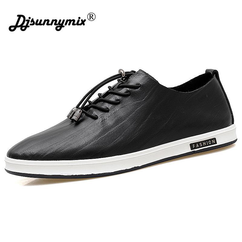 cfbfb0a5d9b8d Compre DJSUNNYMIX Zapatos Masculinos Moda Casual Mocasines De Cuero Genuino  Diseñador De La Marca De Lujo Zapatos De Los Hombres Italianos Zapatos  Planos ...