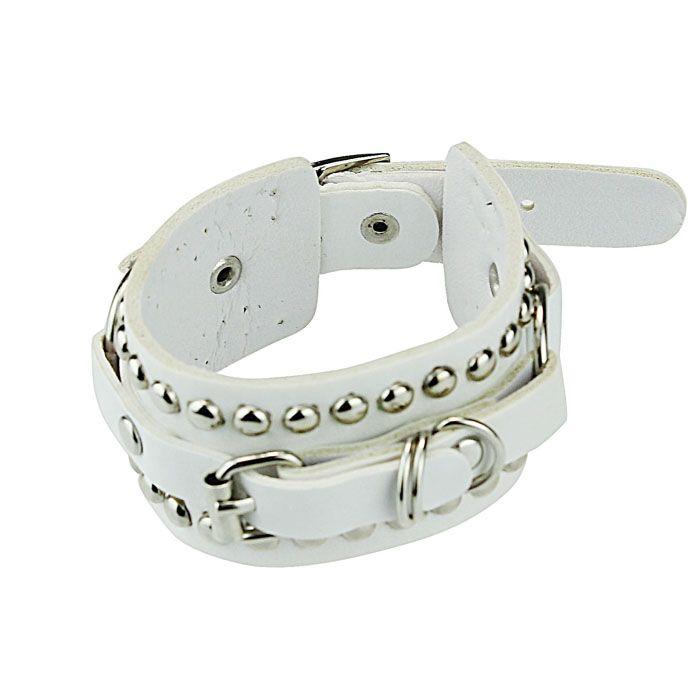 Wholesale 2018 New Design Unisex Punk Style Rivet Stud Leather Belt Bracelets Wristband For Women Man Charm Bracelets Pulsera