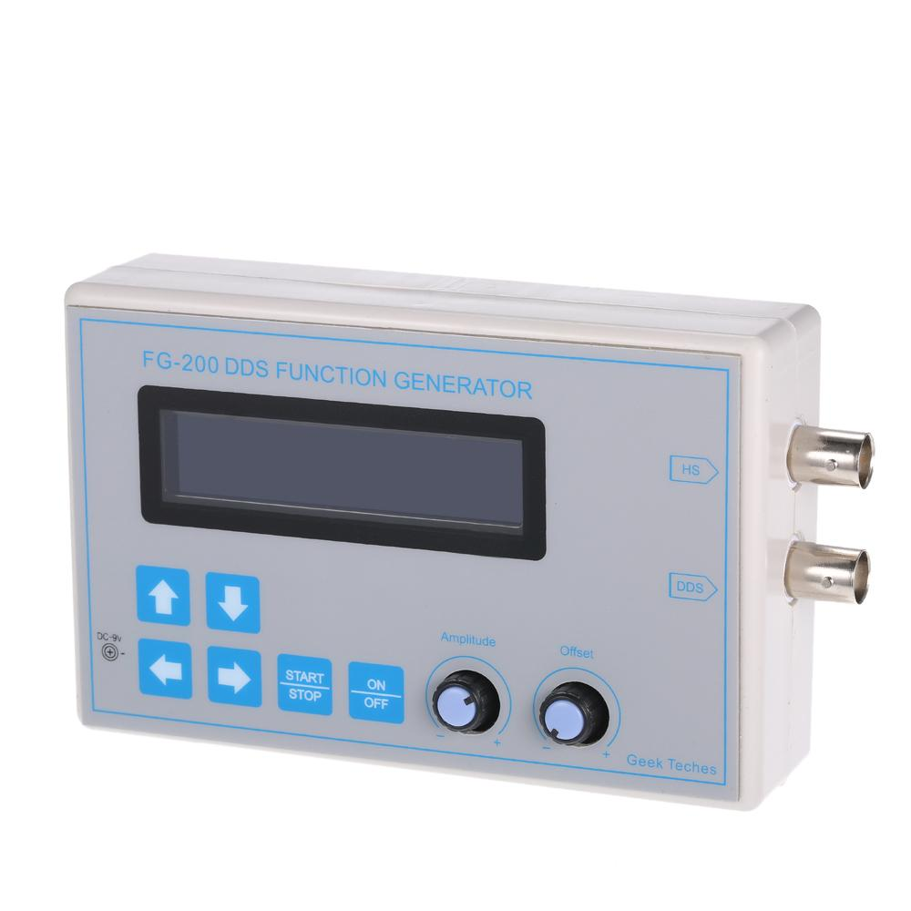 Freeshipping 1Hz-65534Hz LCD DDS Signal Generator Square Sawtooth Triangle  Sine Wave Function Frequency(HS) generator Output Max 8MHz