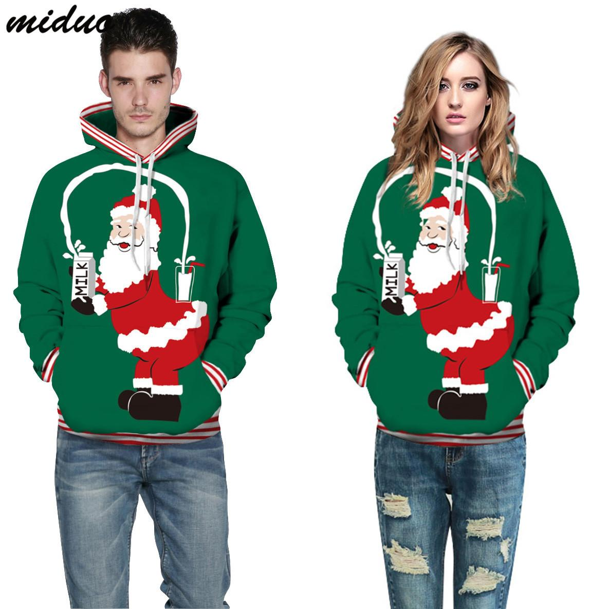 d31ab835d 2019 European and American style printed men's tops, new spoof Christmas  series, digital printing, plus size Couples hoodies for women men