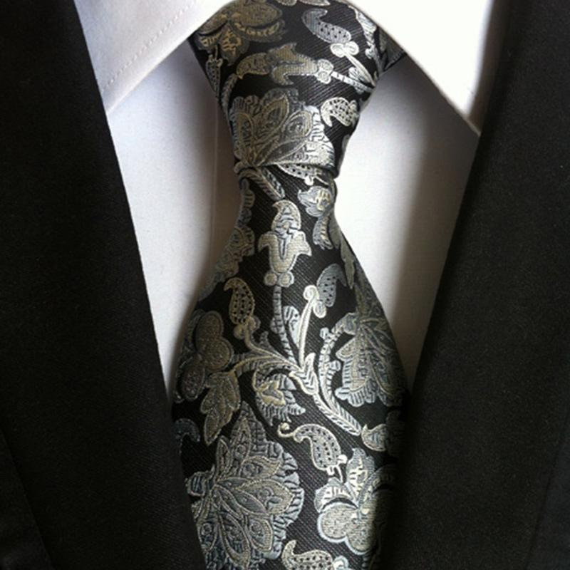Fashionable Fashion Classic Paisley Cashew Flower Men's JACQUARD WOVEN Silk Tie