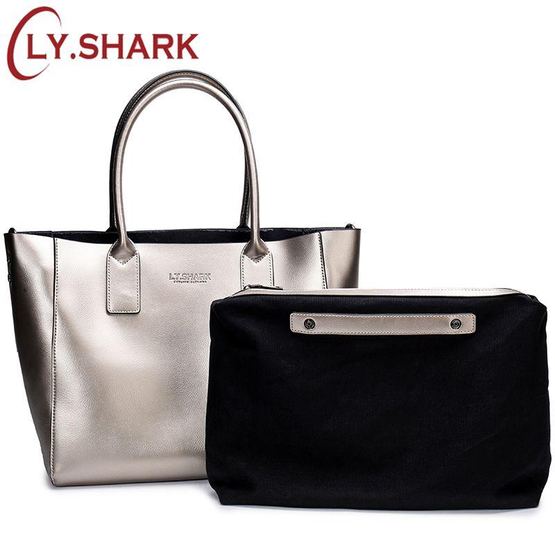 8df37face1d LY.SHARK 2018 Female Bag Ladie Fashion Genuine Leather Women Shoulder  Messenger Bag Women Handbag Big Famous Brand Designer Tote