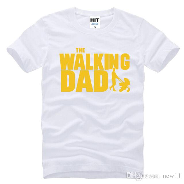 fe7d06a6 2019 Womens Luxury Designer T Shirts The Walking Dad Fathers Day Gift Funny Mens  Short Sleeve O T Shirt Size S 3XL Transfers Cotton Crazy T Shirt Sayings ...