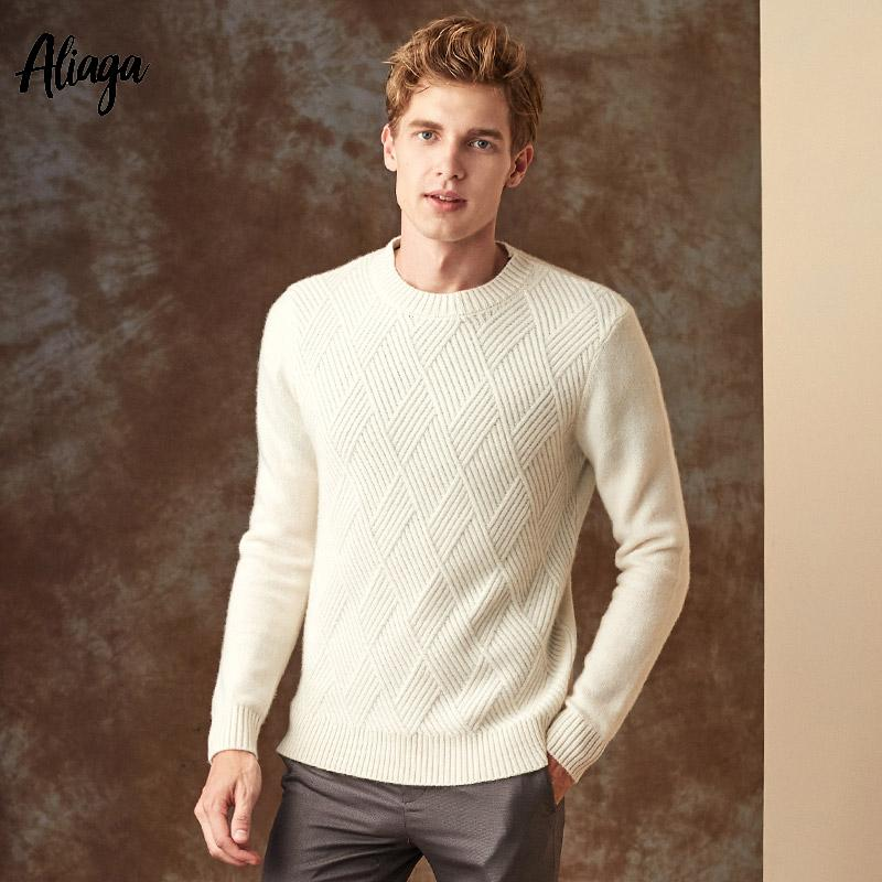 8f7cd9f5f82 Autumn Winter Mens Cashmere Sweaters Casual Ribbed Knitted Thick Luxury  100% Goat Cashmere Pullovers Oversized Sweater Tricot