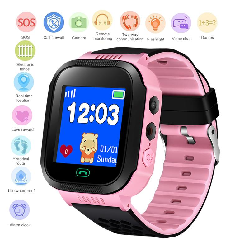 Uhren Wasserdichte Kinder Smartwatch Sos Notruf £ Sicherheit Positioning Tracking Baby Digitale Uhr Unterstützung Sim Hallo Kit