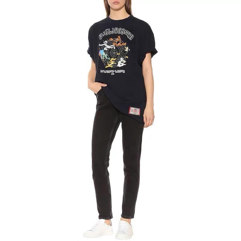 e2f7a49c Vetements Metal Vtm Tee Rainbow Gradient Printing Fashion Casual T Shirt  Streetwear Hip Hop Sport Summer Men Women Loose Tee HFTTTX107 T Sh Fashion  Shirt ...