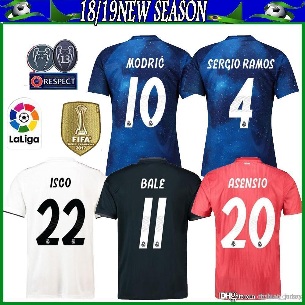 quality design 41a7b 33482 S-3XL jerseys Real madrid 2018 2019 soccer jersey MODRIC MARIANO ASENSIO  VINICIUS JR football shirt BALE RAMOS Camiseta 18 19 ISCO maillot