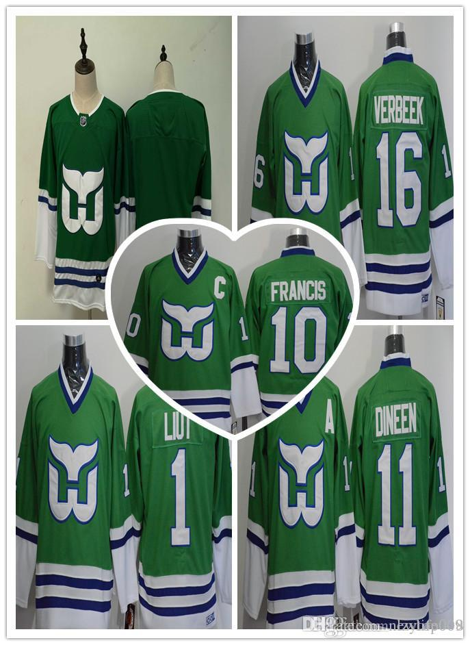 6d9a7782b 2019 Hartford Whalers 10 Ron Francis Jersey 11 Kevin Dineen 16 Patrick  Verbeek 26 Ray Ferraro 5 Ulf Samuelsson 1 Mike Liut 9 Gordie Howe Tippett  From ...