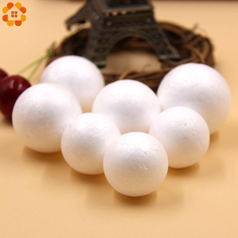 50PCS 30/35MM DIY White Foam Modelling Polystyrene Styrofoam Ball For Kids Gift Christmas Party Decorations DIY Craft Supplies