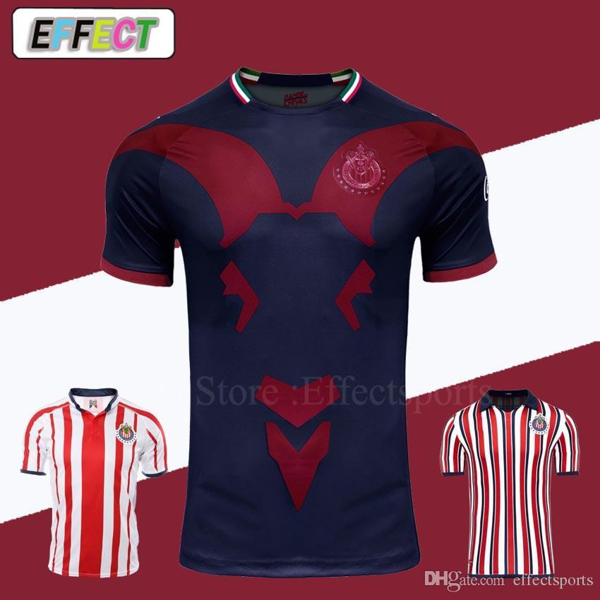 Chivas De Guadalajara Third Jersey 2018 2019 Japan World Cup Soccer Jerseys  New Arrived Long Sleeve Kit MEXICO Club A.PULIDO Football Shirts UK 2019  From ... 9d1f1c023