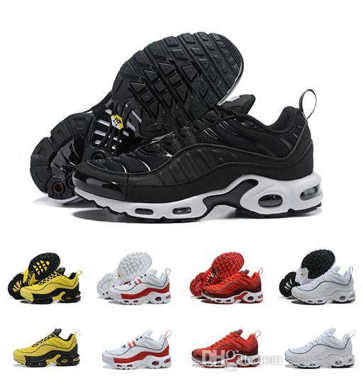 de969d1d1 New Arrival 98 TN Triple Black Yellow Fashion Running Shoes Tn 2019 Mens  Chaussures Plus Tn Sports Brand Trainers Size Eur 40-46 Tn Plus Tn Shoes  Chaussures ...