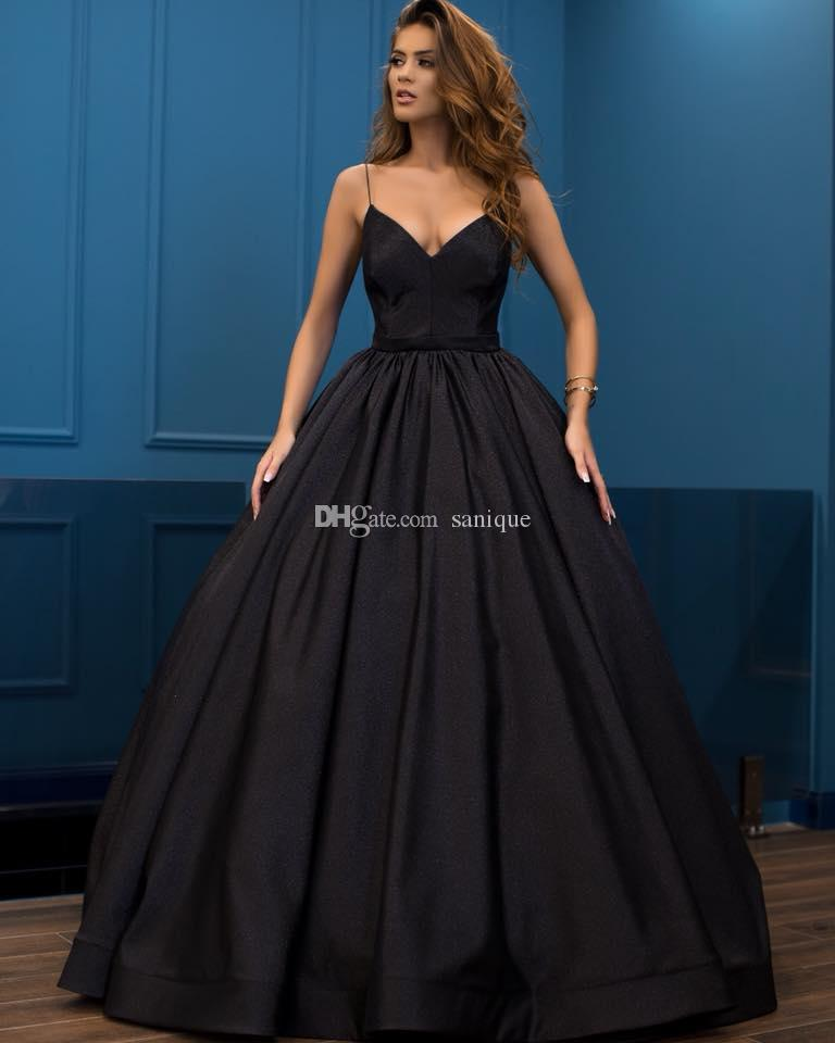 2019 Spaghetti Straps Satin Ball Gown Evening Dresses Sleeveless Cheap Prom  Quinceanera Dresses Plus Size Gowns Buy Evening Dress Buy Evening Dresses  From ... 619f86bb4