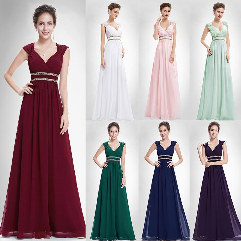 24aaa4bee05f5 2019 Burgundy Prom Dresses 2019 Long Xx79680pe Ever Pretty Women Formal  Elegant Gala Dress For Graduation Chiffon A Line Party Gown Y19042701 From  ...