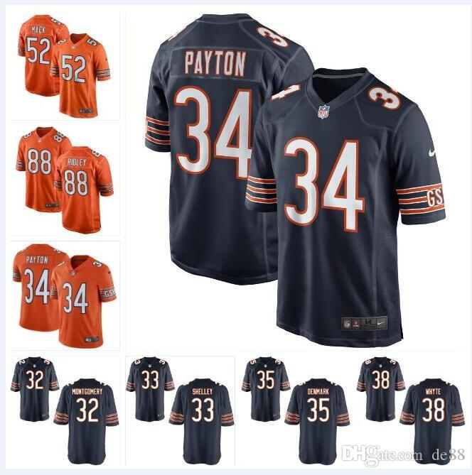 various colors 41706 04d86 Khalil Mack Bears Jersey Walter Payton Mitchell Trubisky David Montgomery  Chicago Riley Ridley custom american football jerseys team shirt