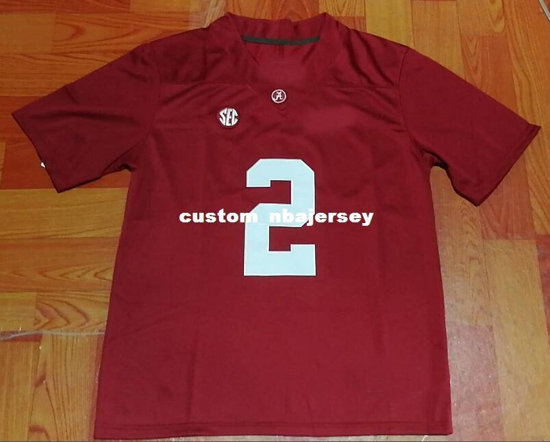 c0d4e9d26 2019 Cheap Custom Alabama Crimson Tide  2 Jalen Hurts Red College Football  Jersey Stitched Customize Any Number Name MEN WOMEN YOUTH XS 5XL From ...