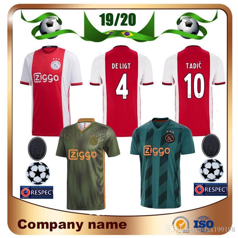 8df282420 2019 19 20 Ajax Home Soccer Jersey 2019 Away TADIC DE JONG ZIYECH DE LIGT Soccer  Shirt DOLBERG VAN DE BEEK Champions Football Uniform From Lxx199198