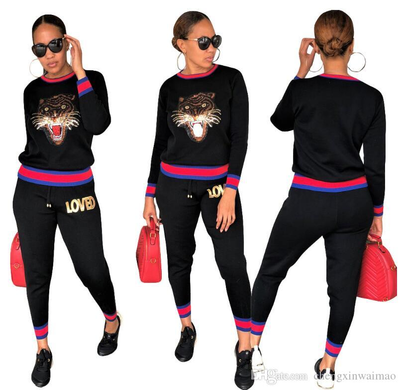 2019 New Fashion 2 Piece Clothing Set Women Crop Top And Pants Suit Ladies Sexy Leisure Two Piece Tracksuit