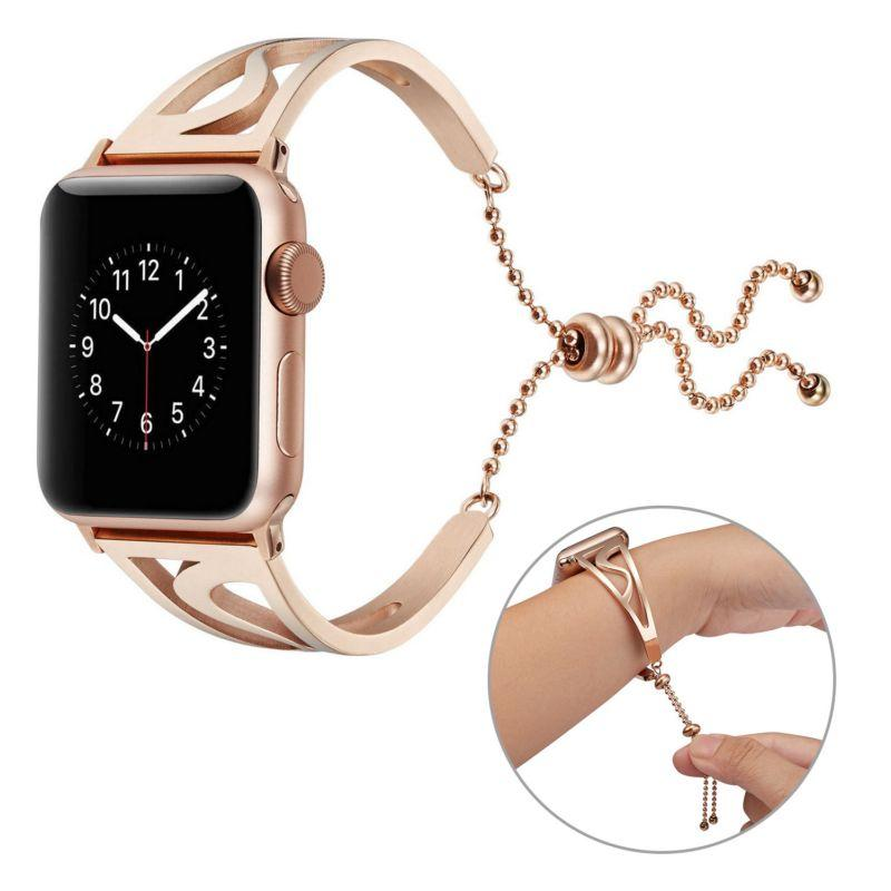 Luxury Stainless Steel Strap For Apple Watch Band Metal Wrist Belt 42mm 38mm Link Bracelet Replacement Watchbands For iWatch 4 3 2 1