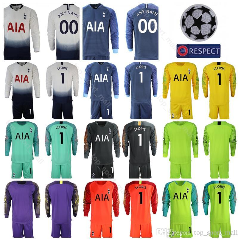 3f28fe8c6 2019 Hot Spur 2018 2019 Long Sleeve 1 Hugo Lloris Goalkeeper Soccer Jersey  Set GK Goalie 13 Vorm 22 Gazzaniga Football Shirt Kits Uniform From ...