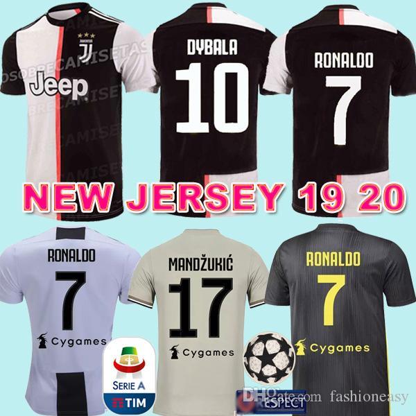 first rate 6d074 7fc2b 2019 2020 NEW Juventus RONALDO DYBALA FANS soccer jersey maillot de  football shirt 19 20 camisa de futebol MANZUKIC BERNARDESCHI