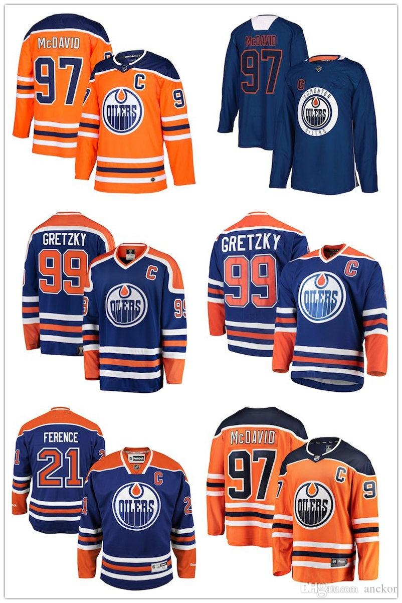 new arrival 4ff71 73bda Edmonton Connor McDavid Leon Draisaitl Ryan Nugent-Hopkins Oilers Fanatics  Branded Away Breakaway Custom home hockey Jersey