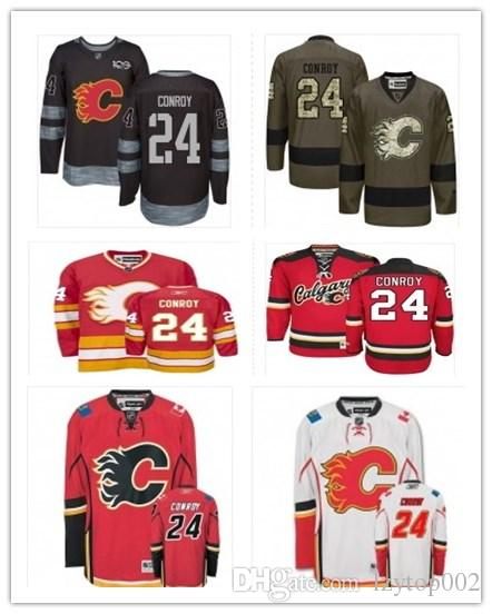 top can Calgary Flames Jerseys # 24 Craig Conroy Jersey men#WOMEN#YOUTH#Men's Baseball Jersey Majestic Stitched Professional sportswear