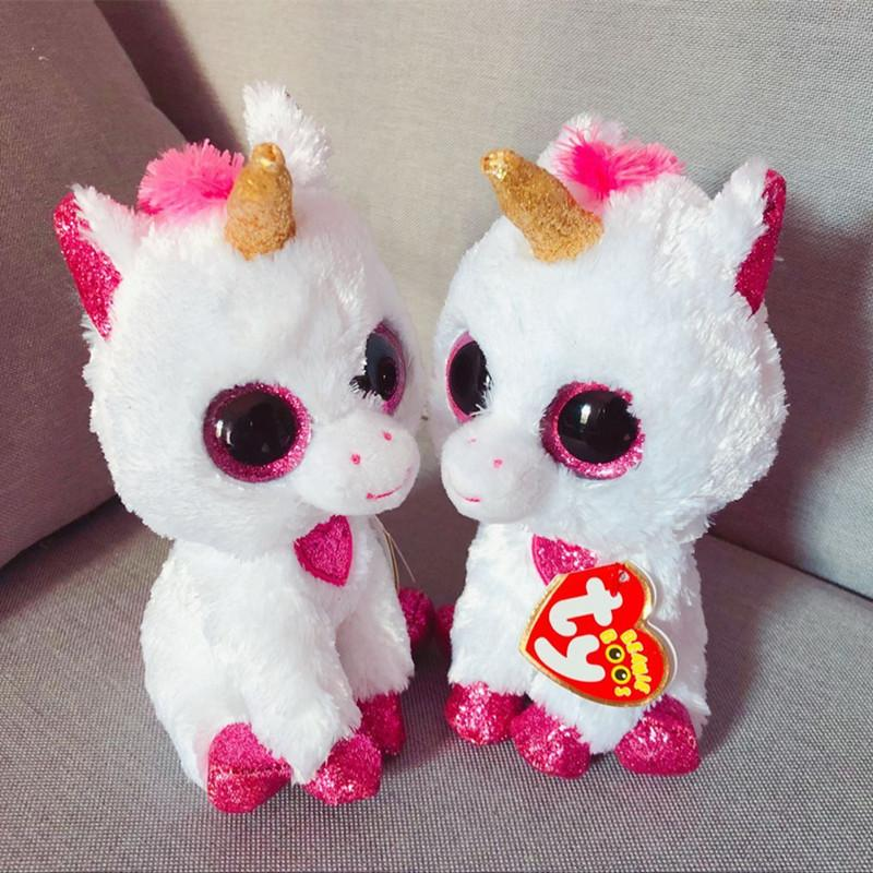 56310ba5cab 2019 Hot Ty Beanie Boos Big Eyes 15CM Christmas Bear Plush Doll Kawaii  Stuffed Animals Collection Lovely Children S Gifts Toys From Sophine14