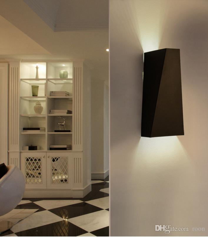 De Nouvelle Moderne Escalier Murale Hôtel Salon En Éclairage Lampe Forgé Allée Fer Led Chambre Lumières Ingénierie Chevet vnmN80w