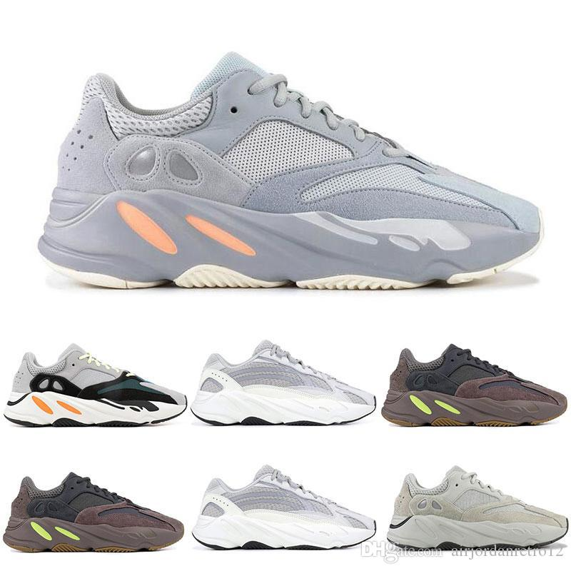 official photos 37171 53a4d 【with box】New Yezzy Yeezy INERTIA 700 Kanye West Wave Runner Static 3M  Reflective Mauve Solid Grey Running Shoes for Men Women Sports Sneakers  size ...