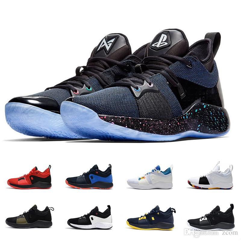 be67cbc232a 2018 PG 2 Playstation Shoes Brand Top Quality Paul George Basketball Shoes  For Men AT7815 002 Sneakers Sport Shoe Designer Chaussures US7 12 Low Top  ...