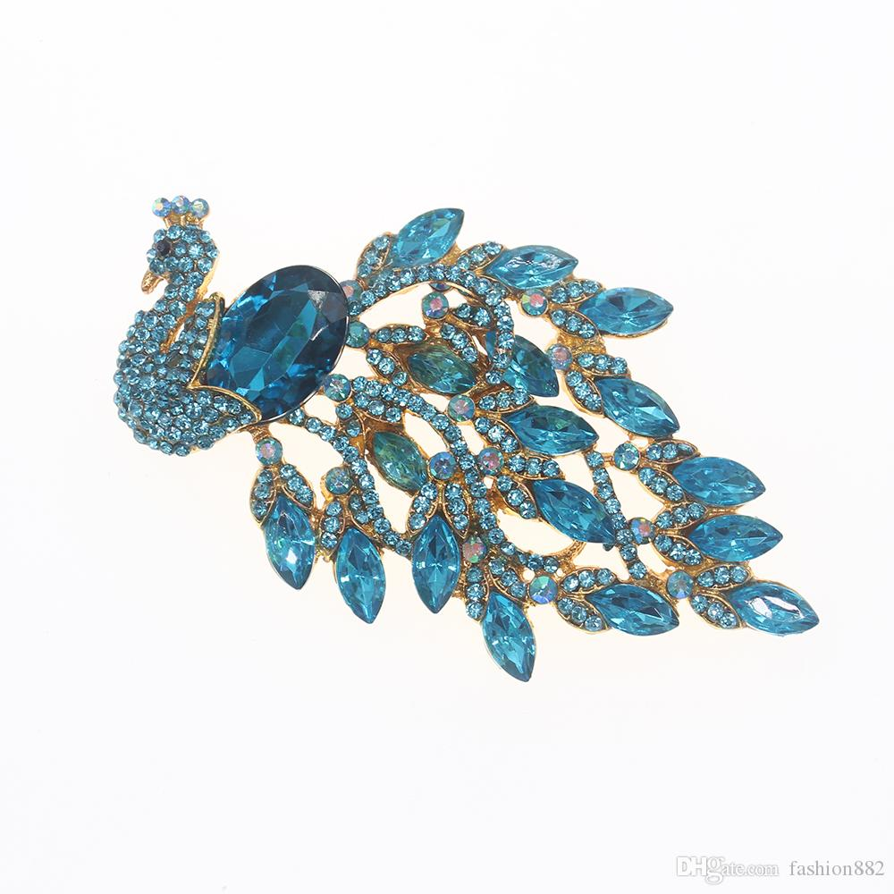 Fashion Jewelry Femmes or//argent cristal strass plaqué papillon broche PIN