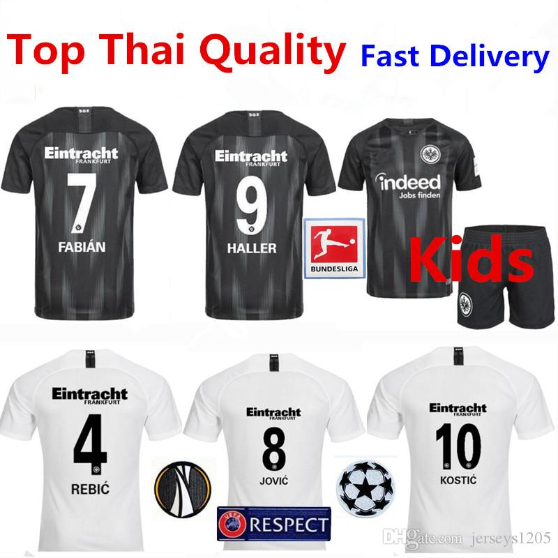 innovative design 9d5ad 1e3cf Eintracht Frankfurt Soccer Jersey Tshirt 18/19 JOVIC Home Football Shirt  KOSTIC T-shirt REBIC Adult Shirts Kids Kit Trikot Camiseta Maillot