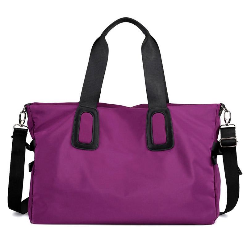 db80e8fcb2fe Fashion Ladies Nylon Travel Duffle Women Yoga Gym Bag Traveling Tote  Shoulder Bags Waterproof Large Crossbody Handbag XA653WB Travel Bags Online  Wheeled ...