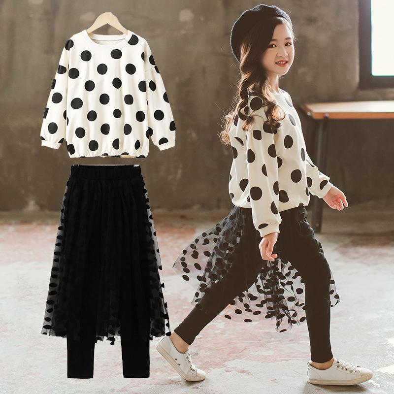 Acquista 2019 Nuovo Vestito Alla Moda Versione Coreana Del Vestito Di Due  Pezzi Di Stile Occidentale Di Moda Bambini Delle Scuole Medie Bambini Delle  Donne ... b7623dd3551